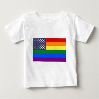 US Rainbow Pride Flag Baby T-Shirt
