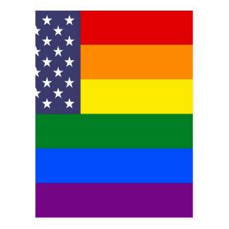 US Rainbow Pride Flag Postcard