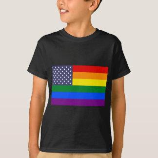 US Rainbow Pride Flag T-Shirt