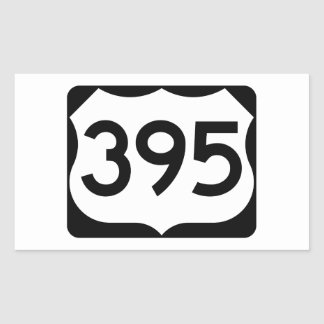 US Route 395 Sign Rectangular Sticker