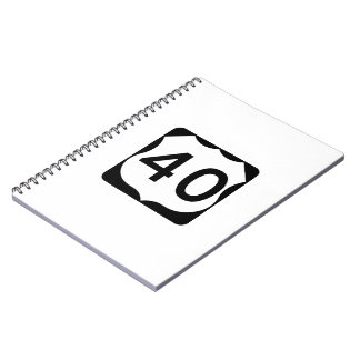 US Route 40 Sign Notebook