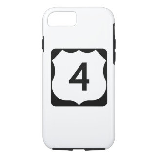 US Route 4 Sign iPhone 8/7 Case