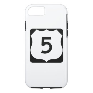 US Route 5 Sign iPhone 7 Case