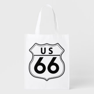 US Route 66 Classic Bag Reusable Grocery Bags