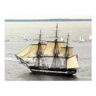 US ship Constitution at a parade of sail Postcard
