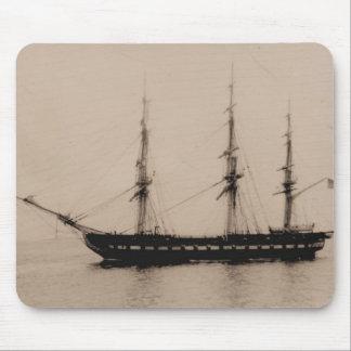 US Ships Constellation at anchor Mouse Pad