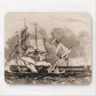 US Ships Constitution in action Mouse Pad