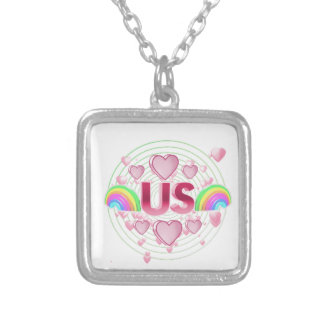 Us Silver Plated Necklace