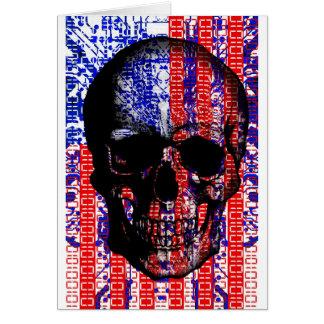 US Skull in a digital circuit Card