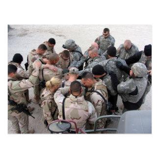 US Soldiers Praying Postcard