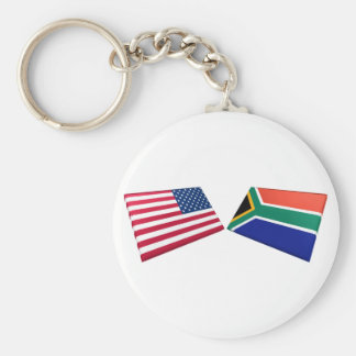 US South Africa Flags Keychains