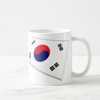 US & South Korea Flags Coffee Mug