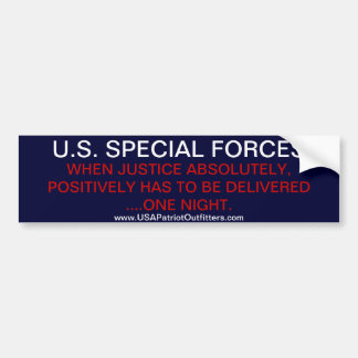 US SPECIAL FORCES - NIGHTTIME DELIVERY BUMPER STICKER
