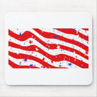 Us Stars And Stripes America Flag American Flag Mouse Pad