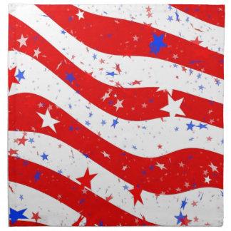 Us Stars And Stripes America Flag American Flag Napkin