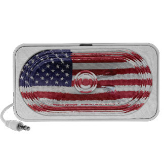 US Stars and Stripes Flag Speaker Doodle Speaker