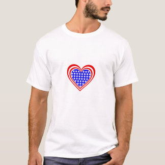 US/Stars & Stripes Flag inspired hearts T-Shirt
