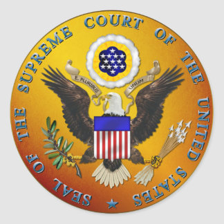 US Supreme Court Classic Round Sticker