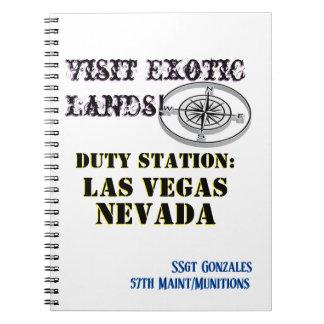 US Tour City Las Vegas NV Name Text Spiral Notebook