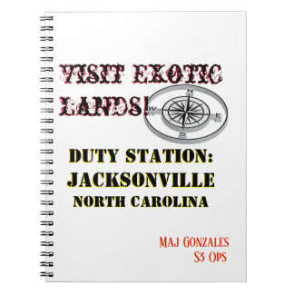 US Tour Jacksonville Exotic NC Notebook