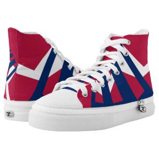 US Triad Designer Hi-Top Sneakers Printed Shoes