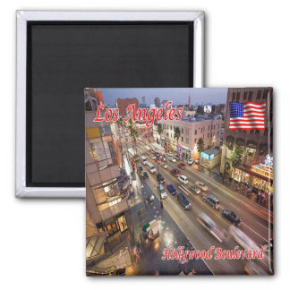 US U.S.A. Los Angeles Hollywood Boulevard Square Magnet