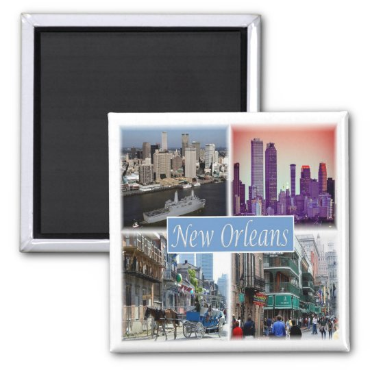 US * U.S.A. New Orleans Louisiana Usa Magnet