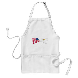 US & US Virgin Islands Flags Standard Apron