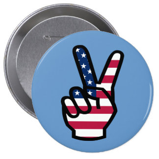 US Victory Sign Button