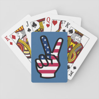 US Victory Sign Poker Deck