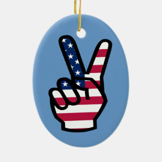 US Victory Sign Ornament