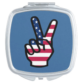 US Victory Sign Mirrors For Makeup