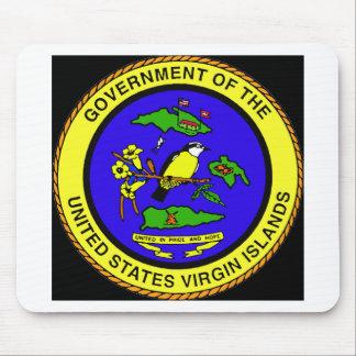 US Virgin Islands Emblem Mouse Pads