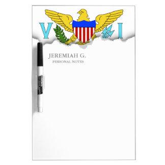 US Virgin Islands flag Dry Erase Whiteboards