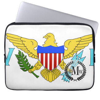 US Virgin Islands flag Laptop Sleeves