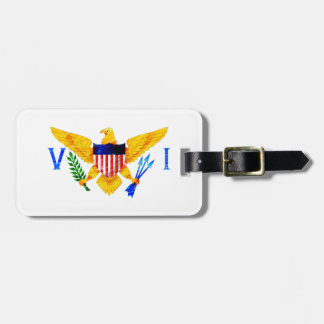 US VIRGIN ISLANDS FLAG LUGGAGE TAG