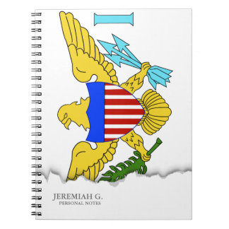 US Virgin Islands flag Note Book