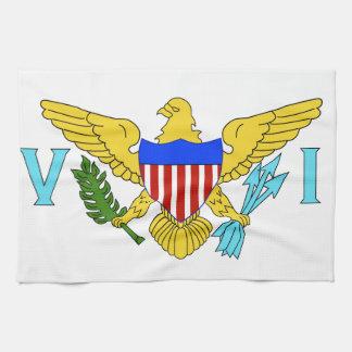 US Virgin Islands flag Tea Towel