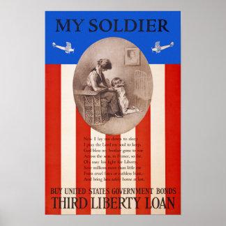 US War Bonds Liberty Loan Prayer WWI Propaganda Poster
