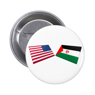 US Western Sahara Flags Buttons
