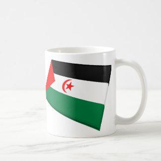 US & Western Sahara Flags Mugs