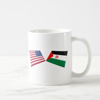 US & Western Sahara Flags Mug