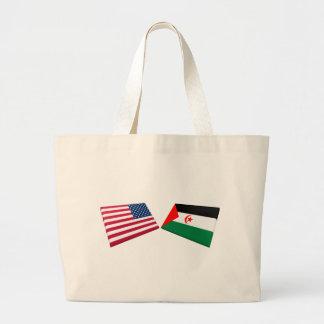 US & Western Sahara Flags Canvas Bag