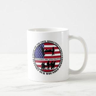 us wounded heroes basic white mug