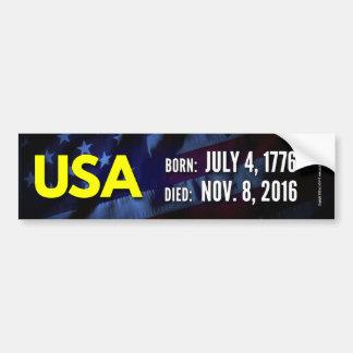 USA 1776-2016 BUMPER STICKER