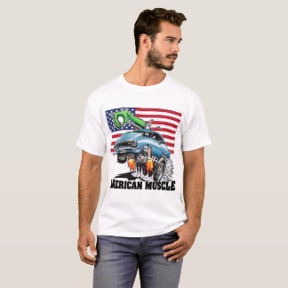 USA 1 Monster Hot Rod (blue) American Muscle T-Shirt