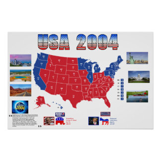 USA 2004 Presidential Election Poster
