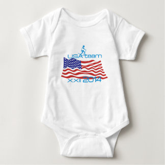 USA 2014 Winter Sports Biathlon Baby Bodysuit