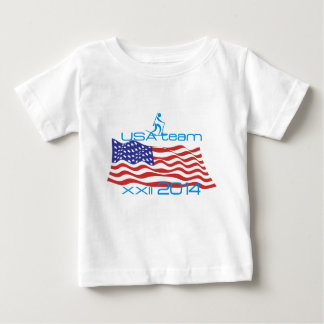 USA 2014 Winter Sports Biathlon Baby T-Shirt
