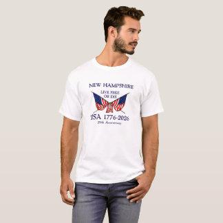 USA 250th Anniversary New Hampshire NH T-Shirt